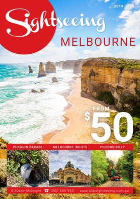 Melbourne Sightseeing Brochure 2019 2020 cover