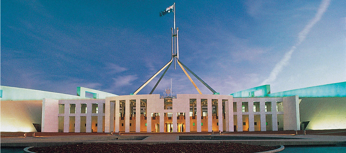 Parliament House at dusk