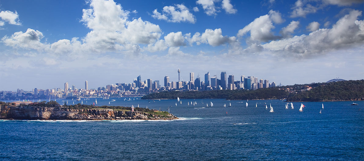 View on Sydney from Manly