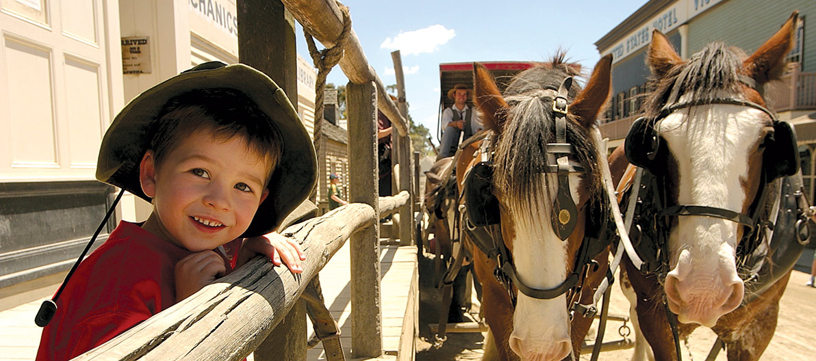 Sovereign Hill boy with horses